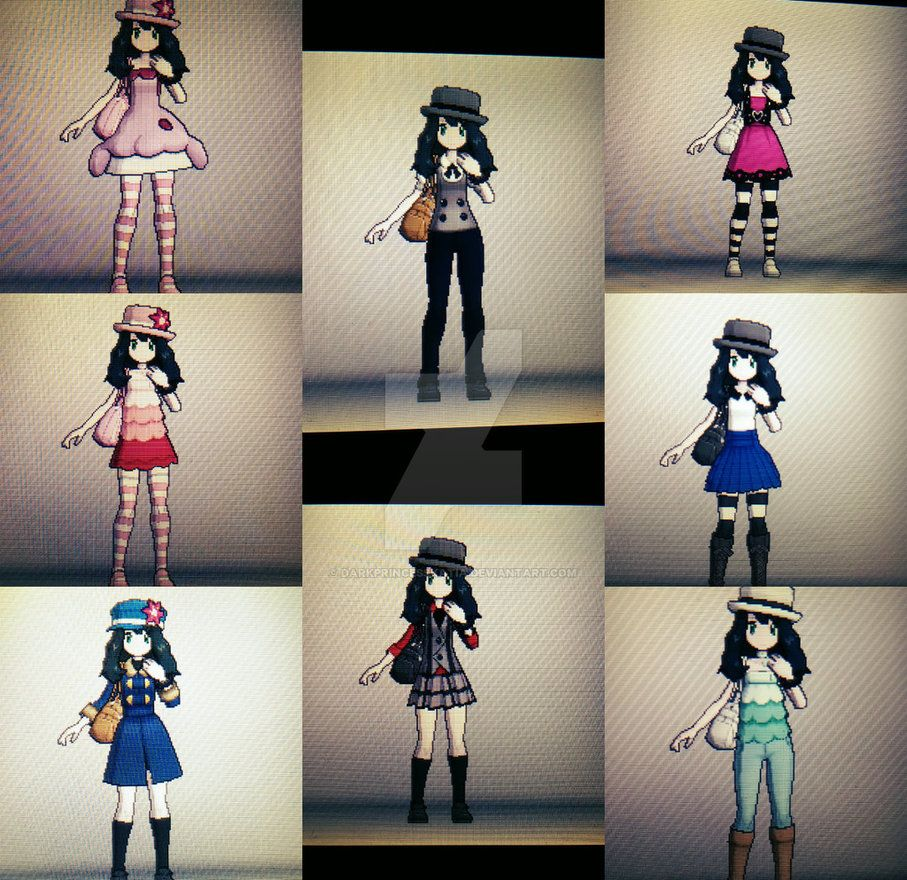 Pokemon X And Y Trainer Outfits Female By Darkprincesskatia