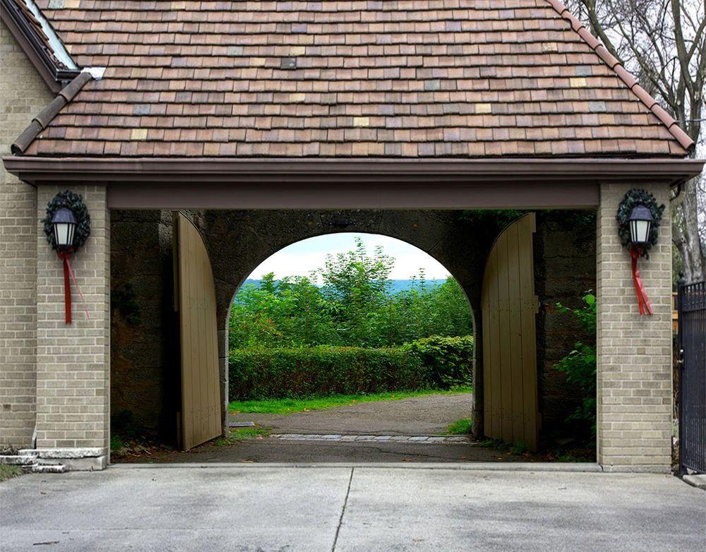 3d arched door 84 garage door murals wall print decal wall aj wallpaper uk carly