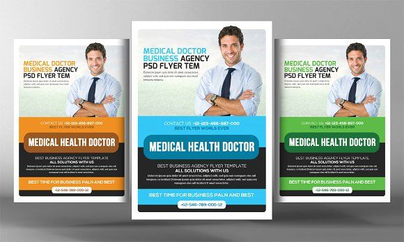 Medical Clinic Flyer Template by Business Templates on - medical brochure template