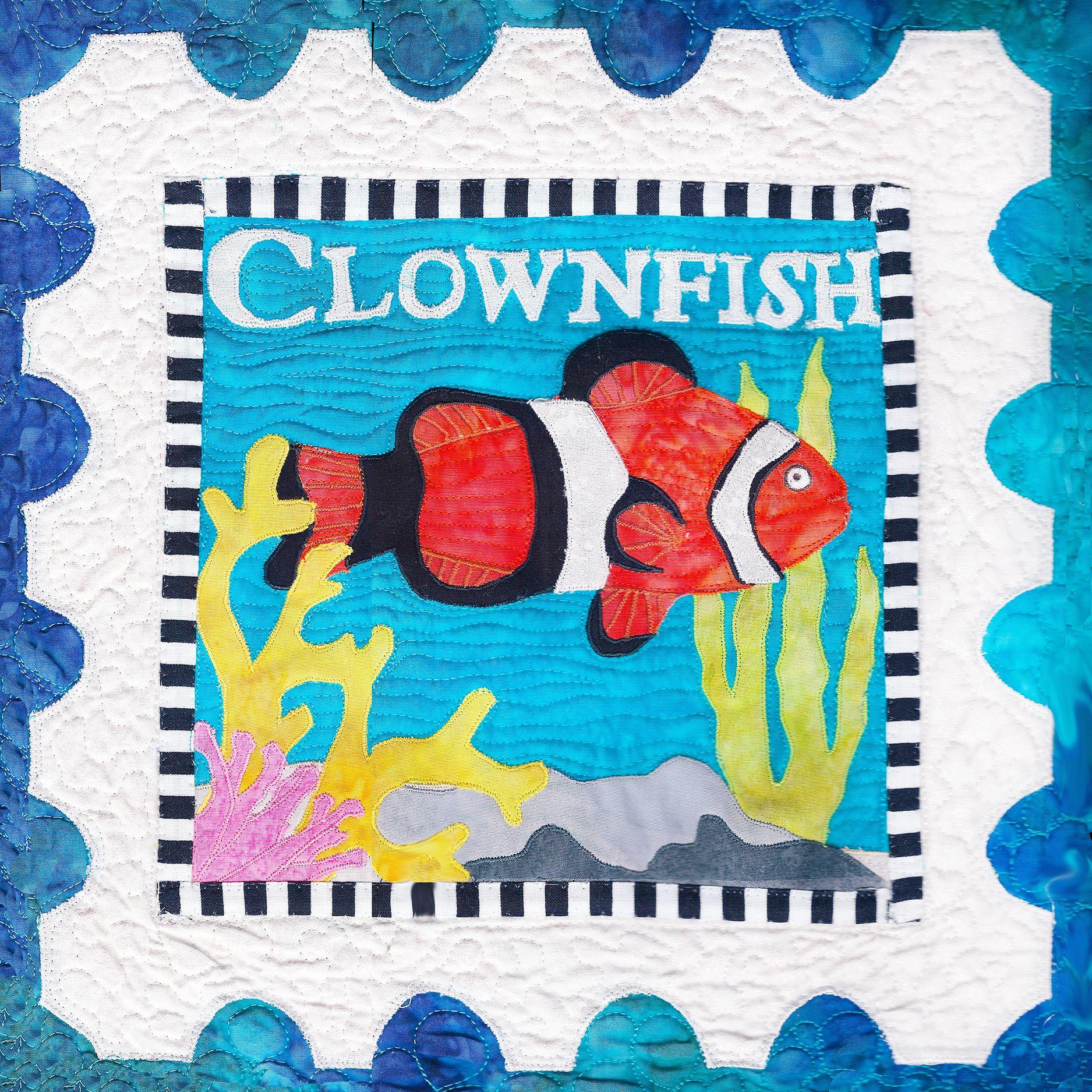 Clownfish Applique Quilt Pattern By Debra Gabel Of Www