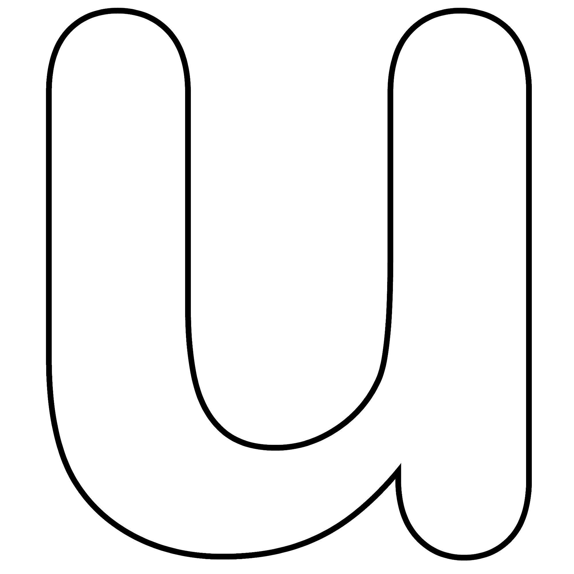 Printable Lower Case Alphabet Letter U Template For Kids