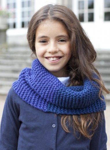 Snood enfant - version bicolore Tricothèque, broderie & tricot ...