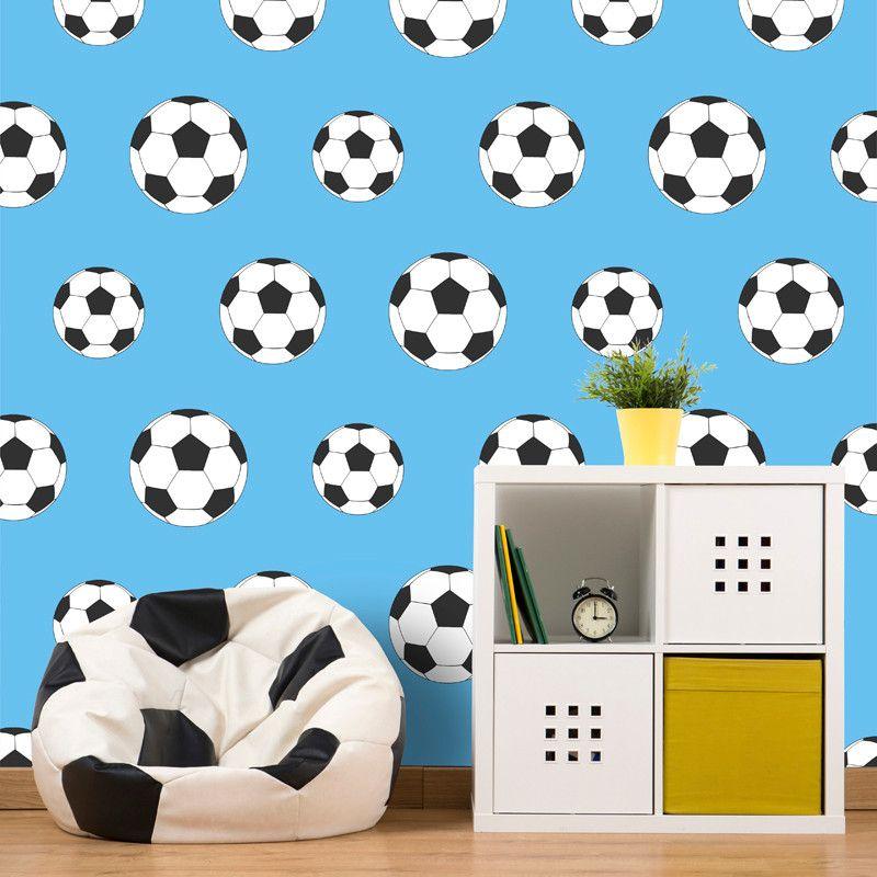 Belgravia Decor Goal Football Wallpaper Light Blue Go Decorating Kids Room Wallpaper Football Themed Room Football Wallpaper