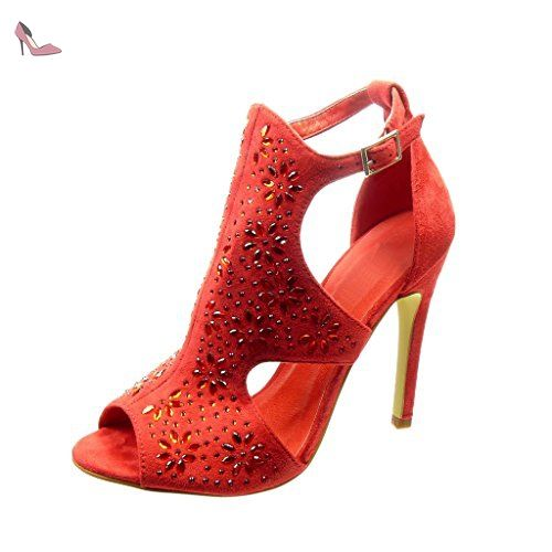 Stiletto Femme Mode Escarpin Chaussure Angkorly Fleurs Ouverte qXwgnt