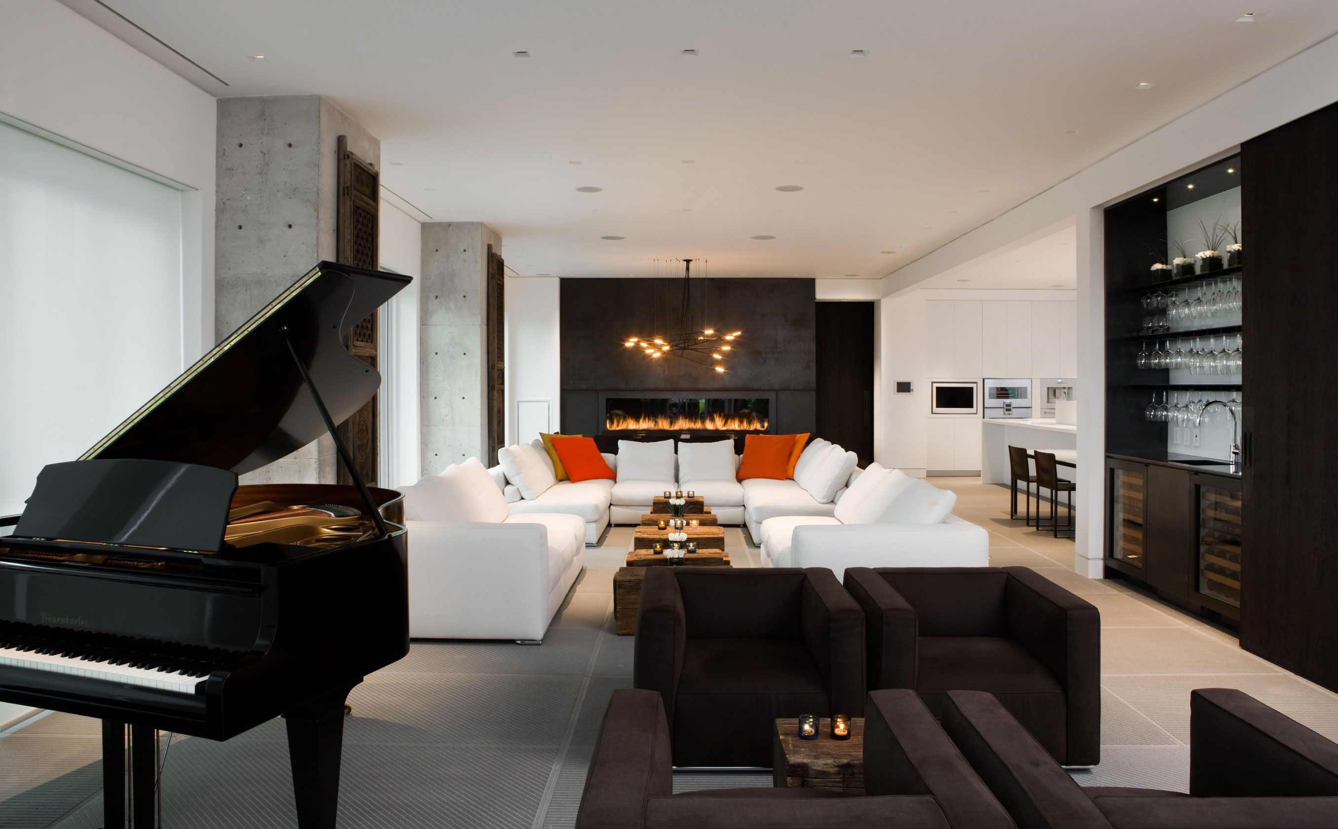 Yorkville Penthouse by Cecconi Simone Inc. | living room ...