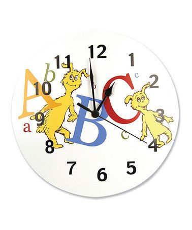 White 'ABC' Wall Clock