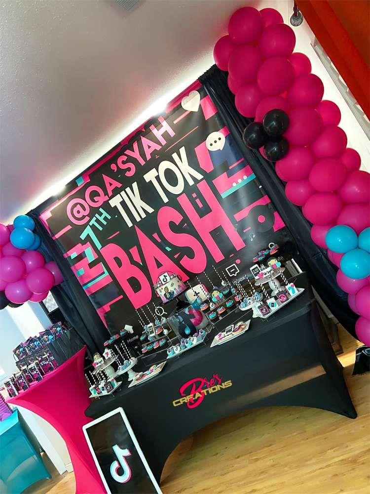 Tiktok Inspired Theme Birthday Party Ideas Photo 4 Of 27 Rockstar Birthday Party Robot Birthday Party Queen Birthday Party