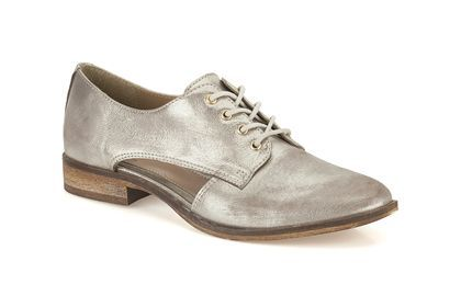 Womens Casual Shoes Fenners Fun in Silver Metallic from