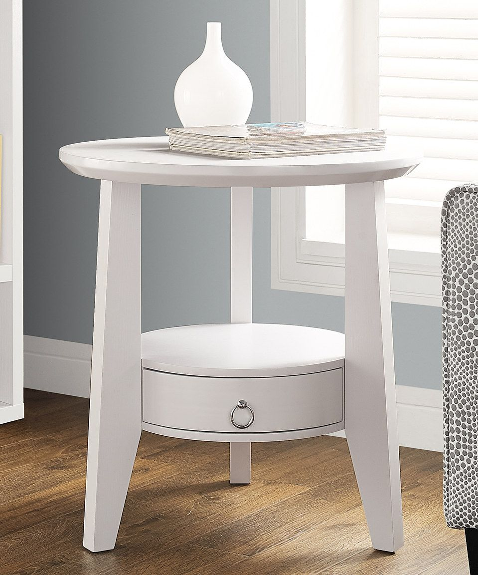 Side table with drawer  Look at this zulilyfind White OneDrawer Side Table by Monarch