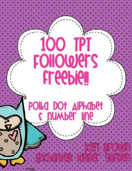 Polka Dot Alphabet And Number Line Freebie ********Thanks