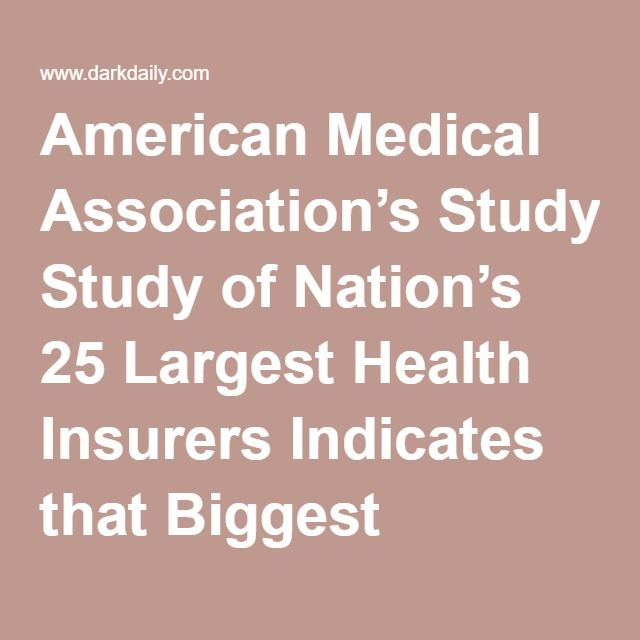 American Medical Association S Study Of Nation S 25 Largest Health