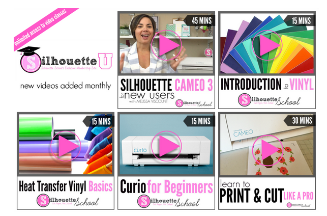 Online Silhouette video classes from Silhouette School