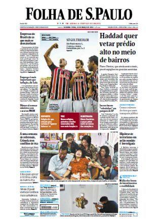 Folha de São Paulo - 10 de março de 2014 - Segunda Portuguese | Pages: 56 | PDF | 23.1 mb