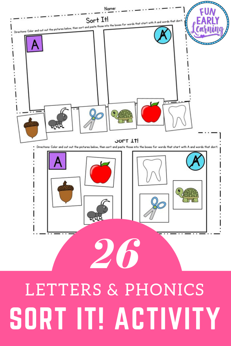 Sort It Letter Sound Correspondence No Prep Activity For Phonics Phonics Letter Sounds Literacy Activities Kindergarten [ 1102 x 735 Pixel ]