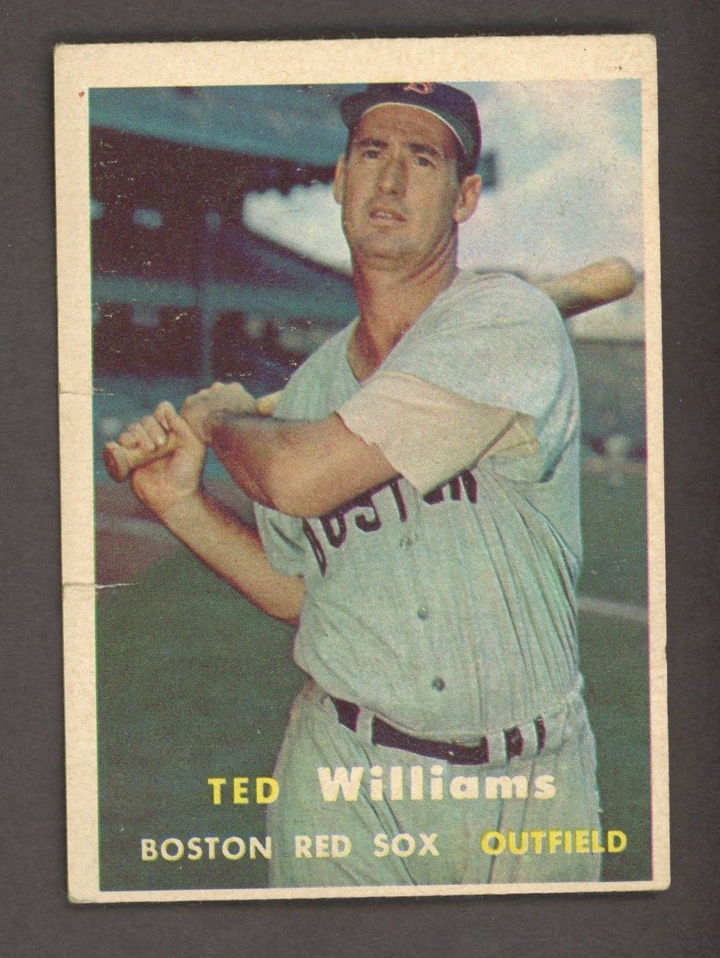 1957 topps 1 ted williams boston red sox hof