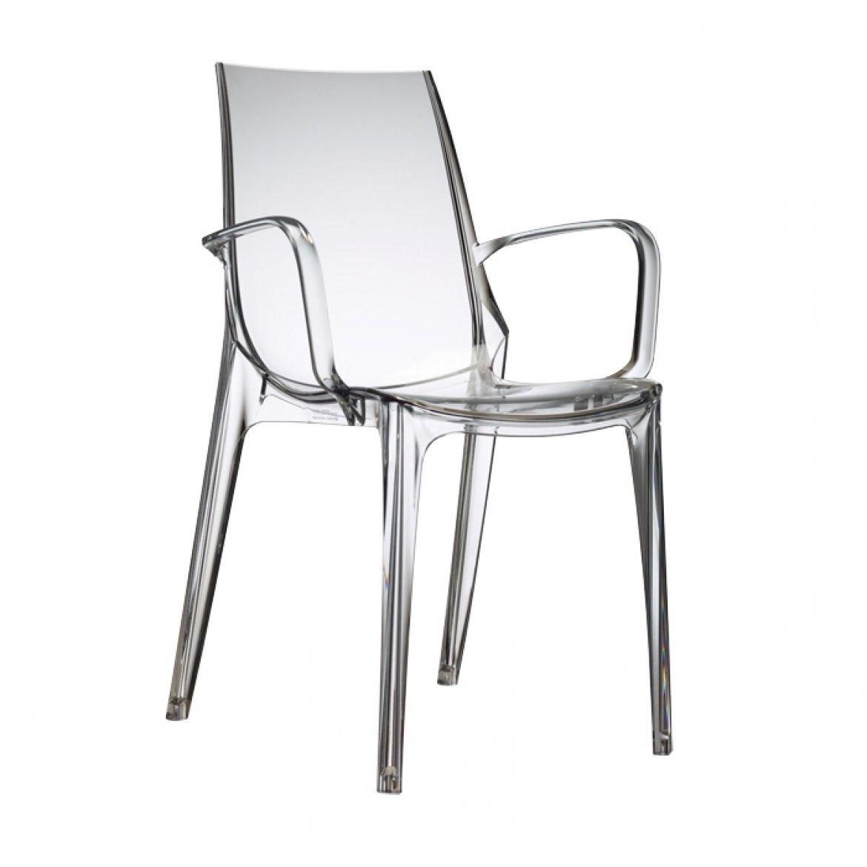 Juego de 4/sillas Diva Plexi Transparente.