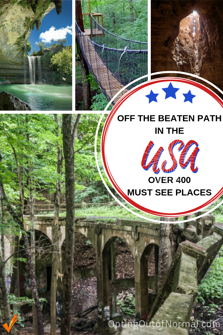 Hidden Secrets in the USA ~ Over 400 Places #usatravel
