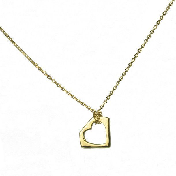 Heart In Gem Necklace.
