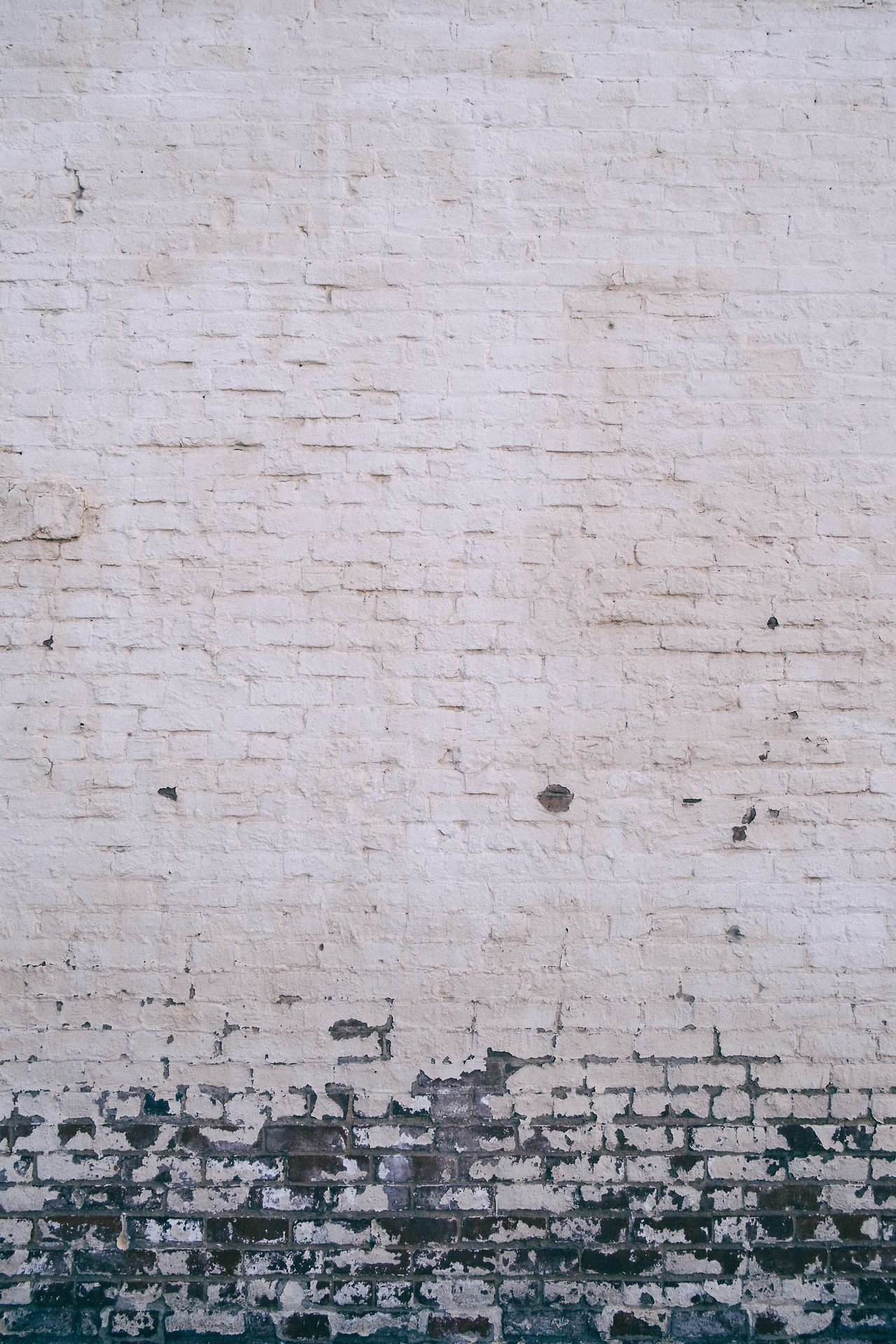 White Brick Wall W Paint Gradient