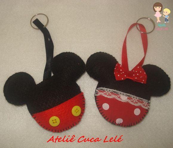 Chaveiro Mickey e Minnie