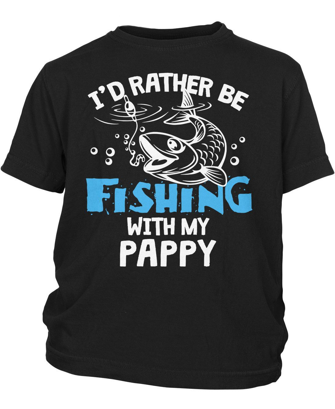 I'd rather be fishing with Pappy - Children's T-Shirt