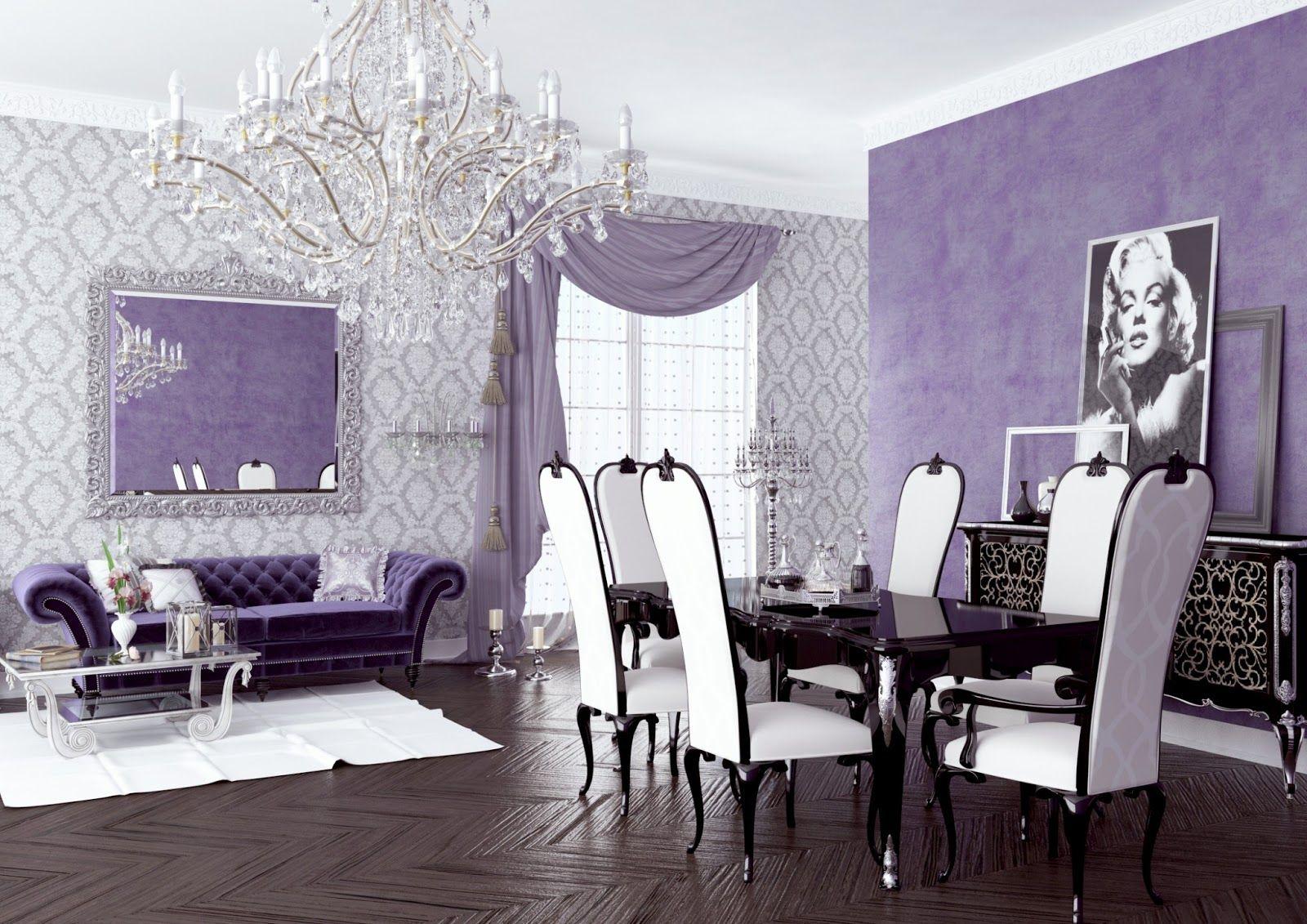modern purple living room ideas interior design good decor