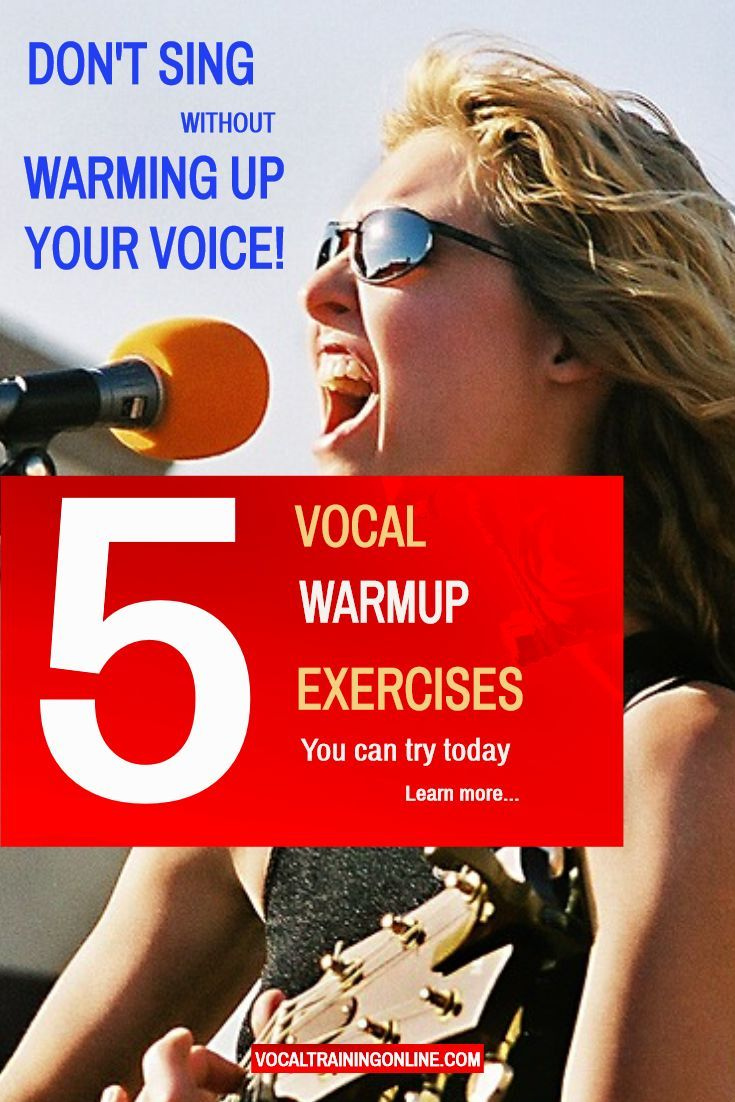 Vocal Warm Up Exercises, Have Fun Singing but Warm Up ...