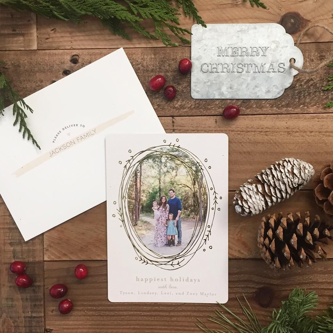 Send Your Loved Ones A Rustic Holiday Greeting Card From Minted This