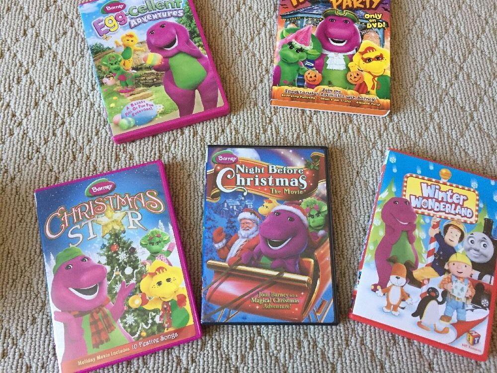 Lot Of 5 Barney Holiday DVD\'s-Easter, Halloween, Christmas | Ideas ...
