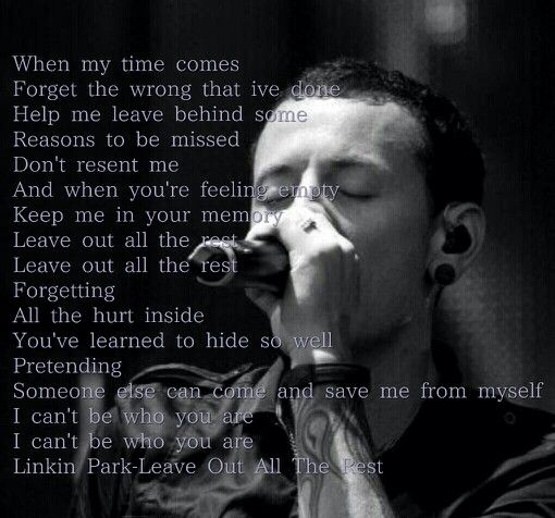 Leave Out All The Rest Linkin Park Linking Park Letras Y Musica