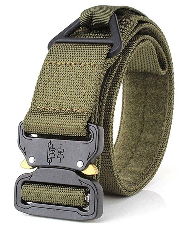 Mens Military Tactical Belt Adjustable Army Green