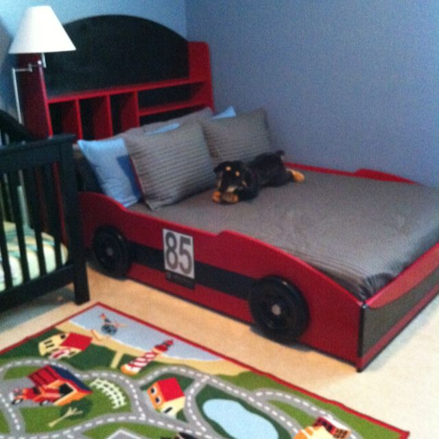 Finished car bed # Pin++ for Pinterest # Baby #3 Pinterest