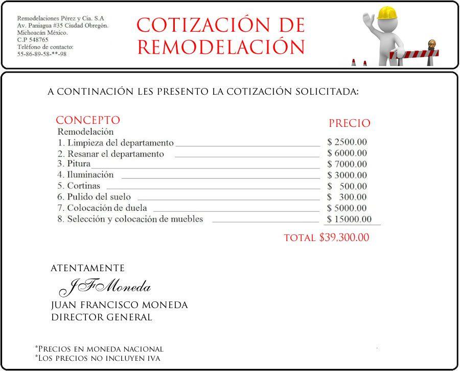 cotizacion.jpg (900×725) | CARPETA DE CARLO | Pinterest | Carpeta