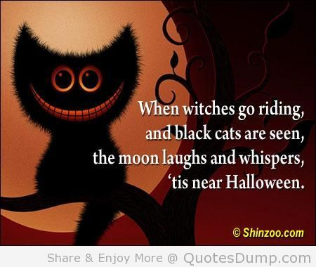 Superb When Witches Go Riding And Black Cats Are Seen The Moon Laughs And Whispers  Tis Near. Happy Halloween QuotesHalloween ...