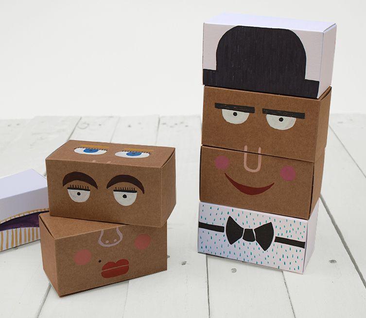 Disfruta creando juguetes reciclados con cajitas de cartón