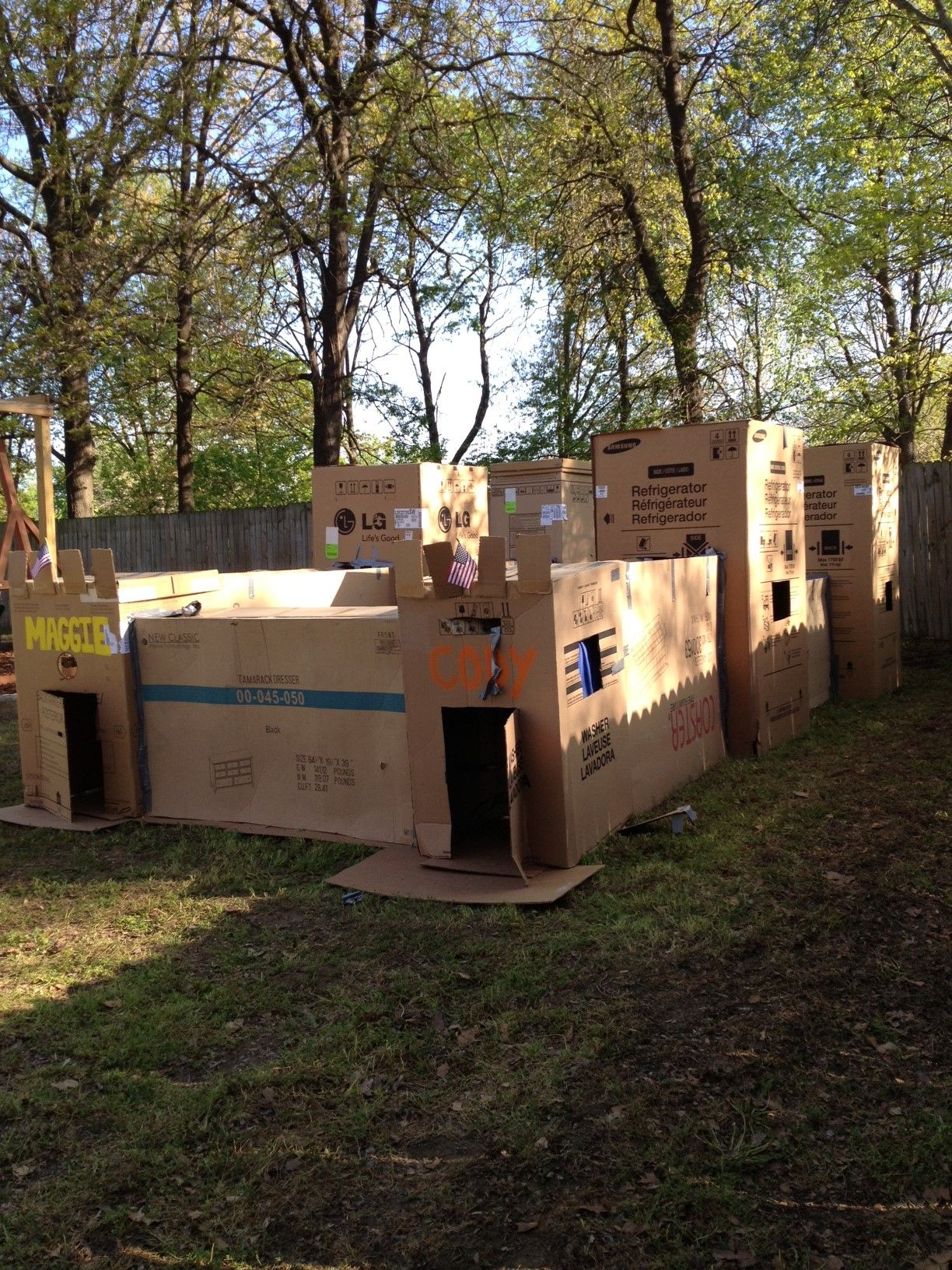 Birthday Party Box Tunnel Maze Backyard Halloween Party Haunted House For Kids Halloween Party Kids Diy backyard haunted house