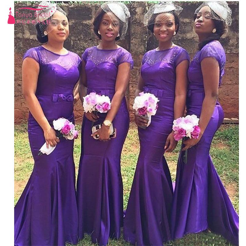 Find More Bridesmaid Dresses Information about Grape Mermaid ...