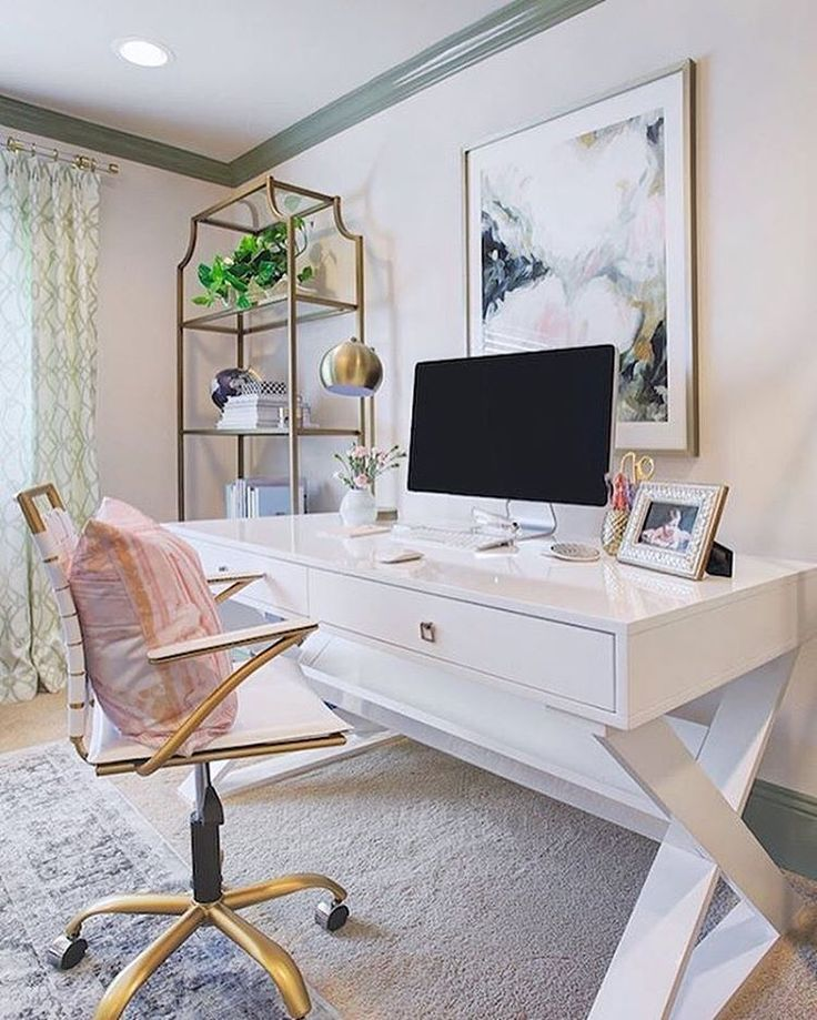 Jett Desk White Lacquer By Z Gallerie In 2019 Home