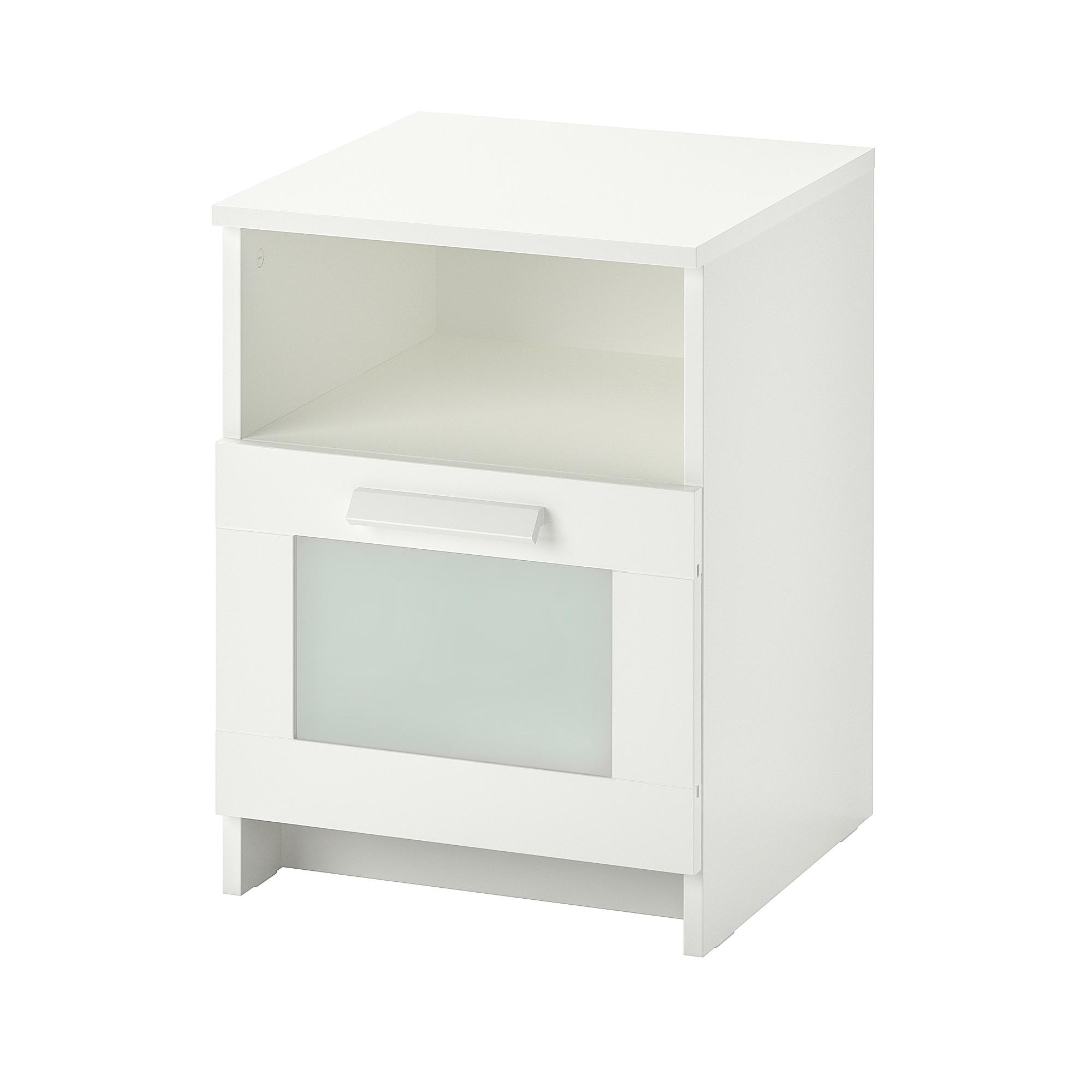 Brimnes Chevet Blanc 15 3 8x16 1 8 39x41 Cm Table De Chevet Ikea Chevet Blanc Table De Chevet Blanche