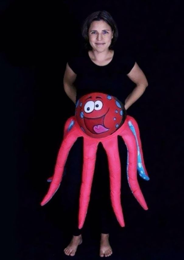 pregnant mom halloween costume octopus - Pregnant Mom Halloween Costume