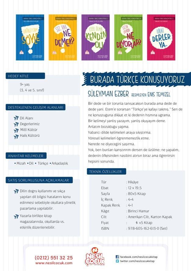 Burada Türkçe Konuşuyoruz (5 Kitap) | Nesil Sanal Mağaza | www.nesilkitap.com