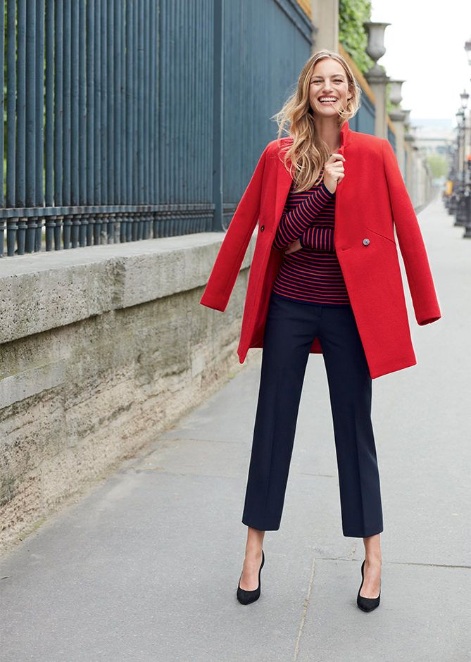 f7eef5553b2 Caroll - Lookbook collection hiver 2016 - Manteau rouge