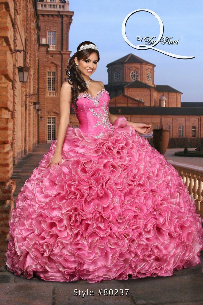 Hermoso y moderno vestido Q by Davinci style 80237 Elegant Organza ...