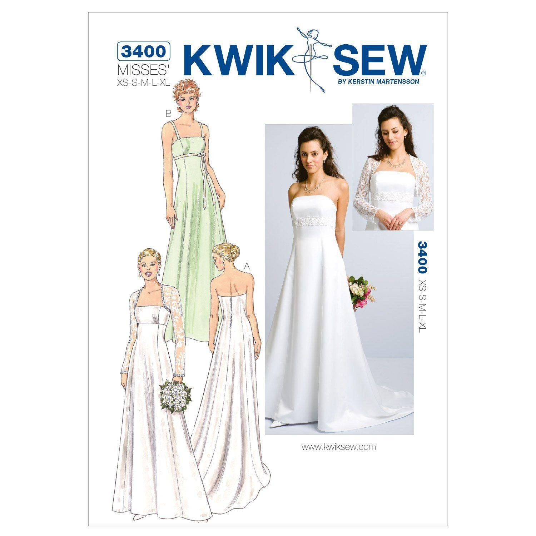 Kwik Sew Schnittmuster 3400 Brautkleid Gr. XS-XL: Amazon.de: Küche ...