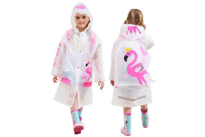 Children Cartoon Rain Coat Kids Rainwear Waterproof Schoolbag Raincoat Poncho
