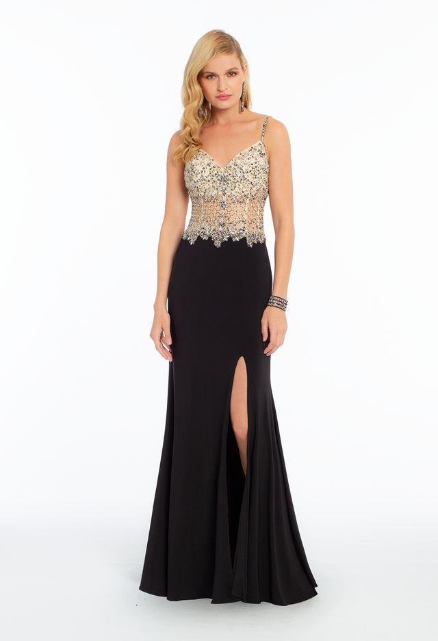 Jersey Lattice Illusion Dress from Camille La Vie and Group USA ... e2fb1f3ab