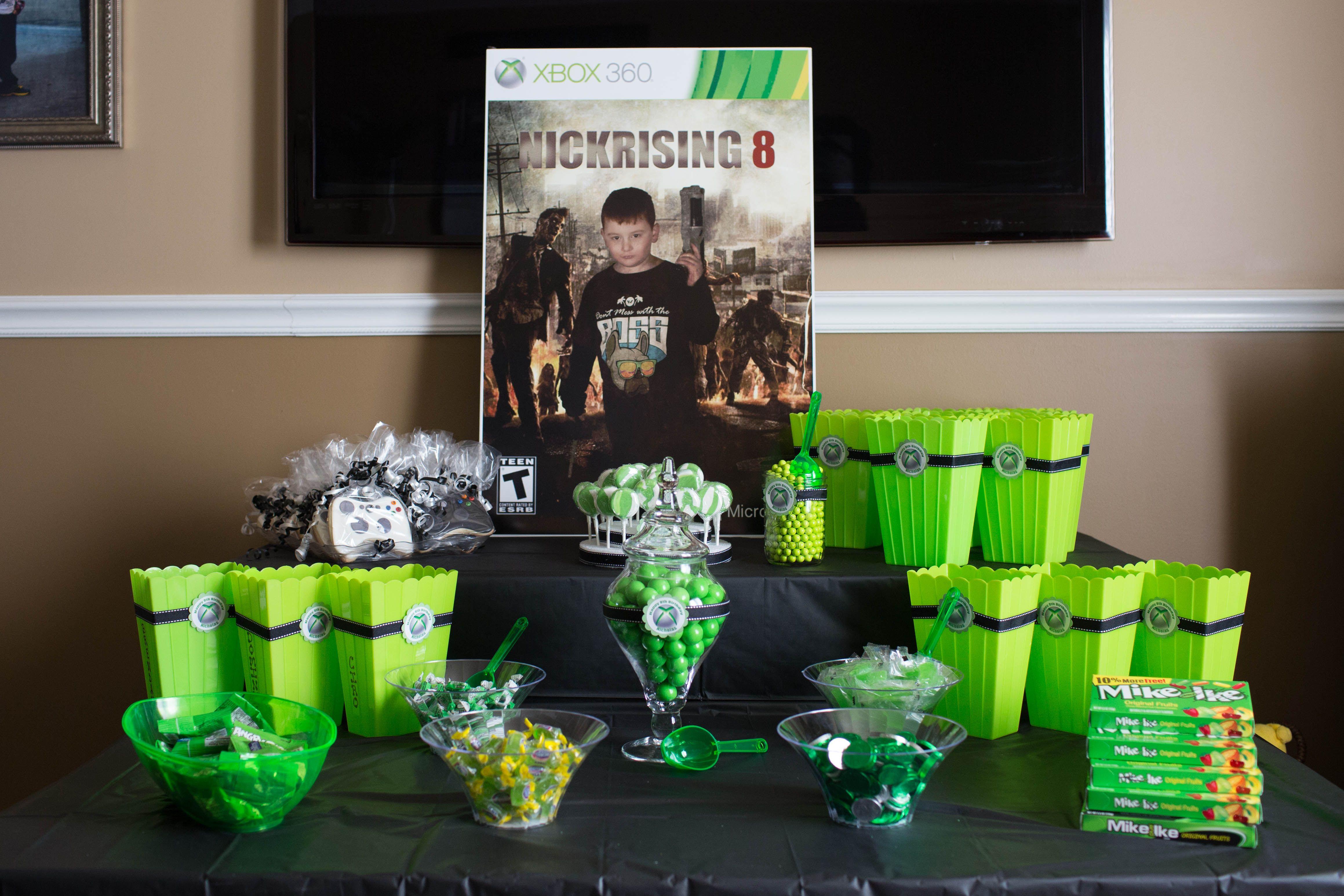 Xbox green party ideas box pinterest