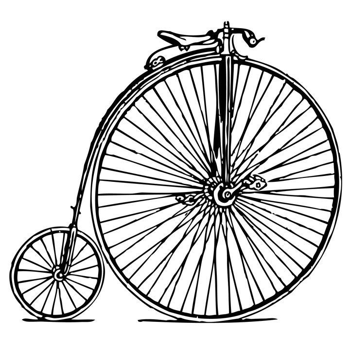 Penny-farthing Clip Art Bicycle Wheels - Penny Transparent File Transparent  PNG