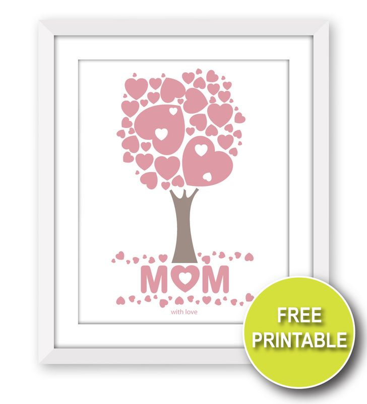 This is a free printable wall art gift for Mother\'s Day. Download ...