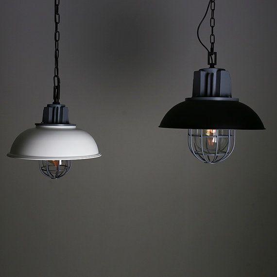 Industrielle acier pendentif lampe - luminaire - edison ampoule - style  vintage - style industriel - suspension éclairage lampe - plafonnier- fd911b94a4e9